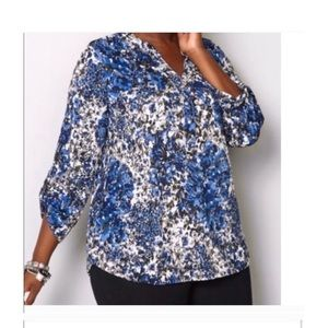 AVENUE 💼Foil abstract blouse 14/16W (1X)